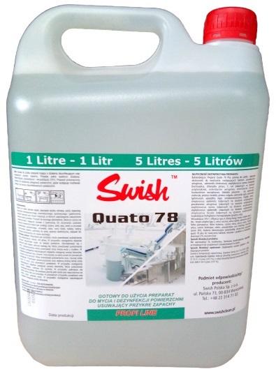 SWISH QUATO 78 <br /> płyn do mycia i dezynfekcji powierzchni