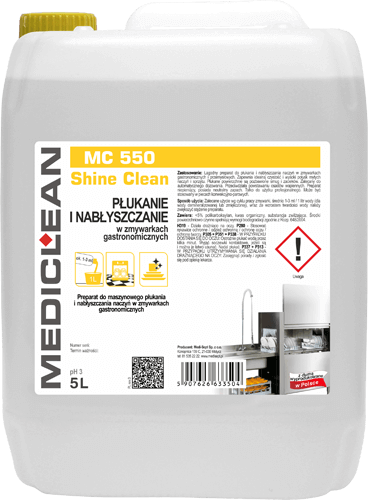 MEDICLEAN MC 550 Shine Clean Nabłyszczanie naczyń w zmywarkach gastronomicznych