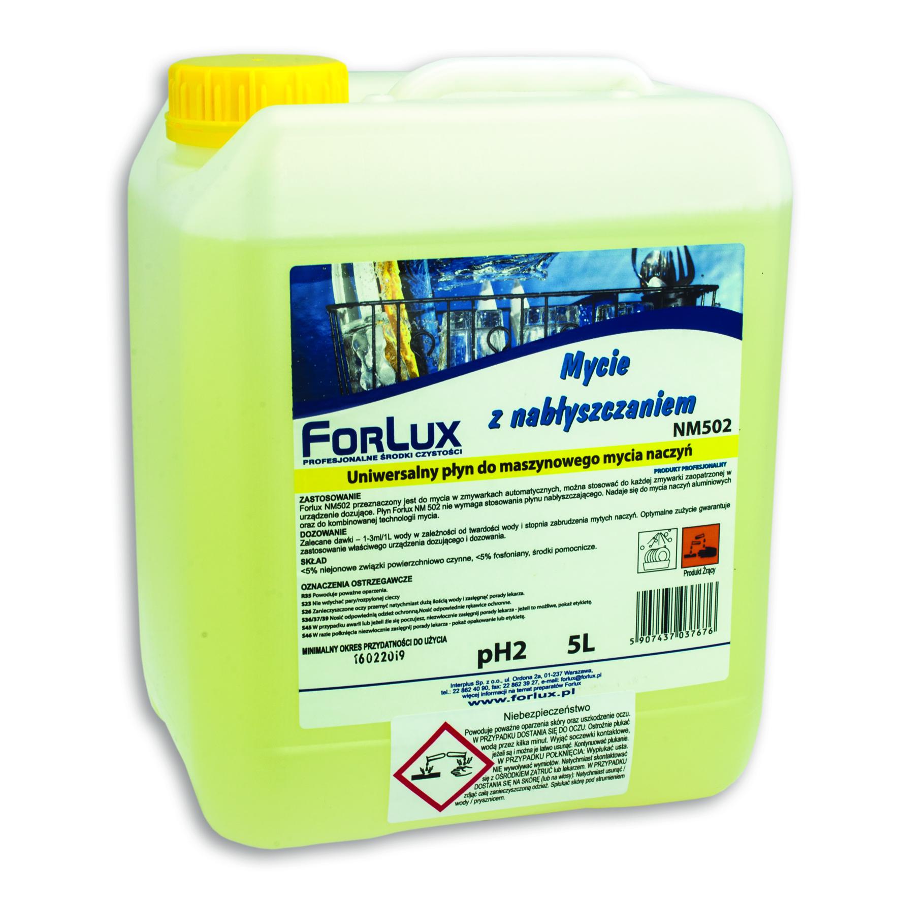 FORLUX NM 02 Maszynowe mycie naczyń z nabłyszczaniem