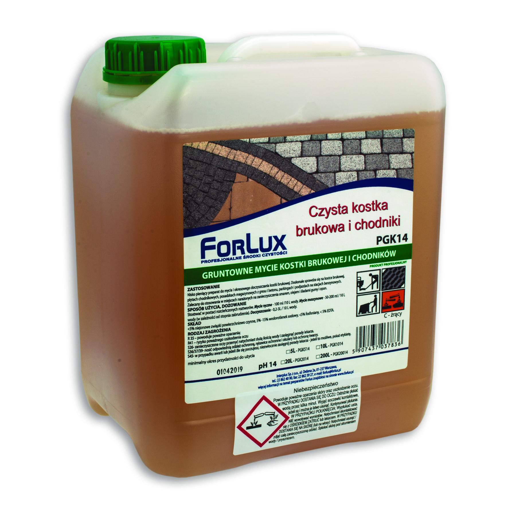 FORLUX PGK 514 Czyszczenie kostki brukowej