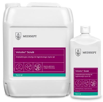 MEDISEPT VELODES SCRUB<br /> antybakteryjna emulsja do higienicznego mycia rąk