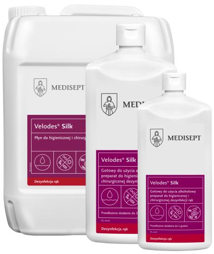 MEDISEPT VELODES SILK <br /> płyn do higienicznej <br /> i chirurgicznej dezynfekcji rąk