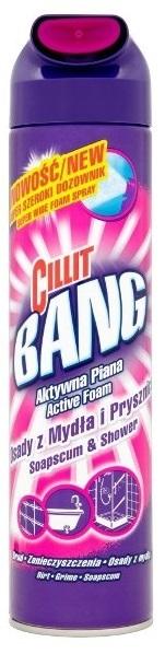 CILLIT BANG aktywna piana osady z mydła i prysznice