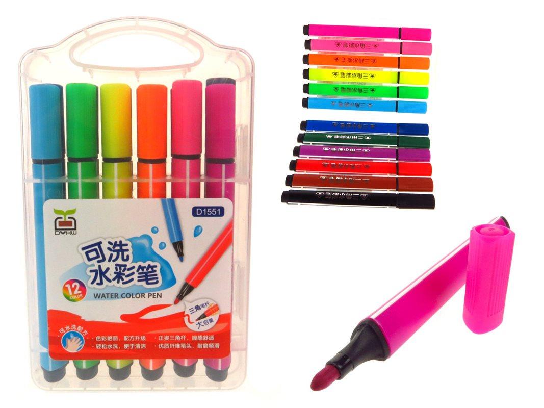 Flamastry kolorowe <br /> w pudełku 12 szt.