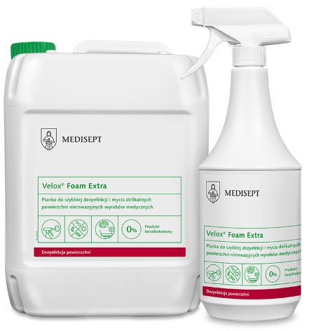 MEDISEPT VELOX FOAM EXTRA<br /> pianka do szybkiej dezynfekcji i mycia delikatnych powierzchni