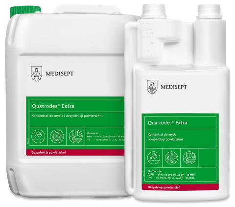 MEDISEPT QUATRODES EXTRA <br /> koncentrat do mycia i dezynfekcji powierzchni