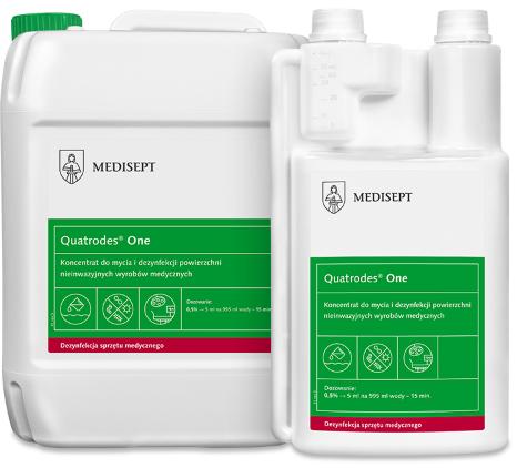 MEDISEPT QUATRODES <br /> ONE<br /> koncentrat do mycia i dezynfekcji powierzchni