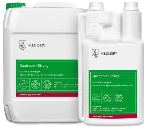 MEDISEPT QUATRODES  STRONG <br /> wydajny koncentrat do mycia i dezynfekcji powierzchni