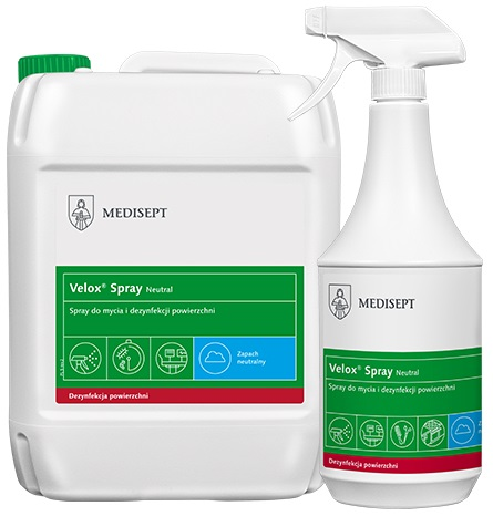 MEDISEPT VELOX SPRAY<br /> spray do mycia i dezynfekcji powierzchni