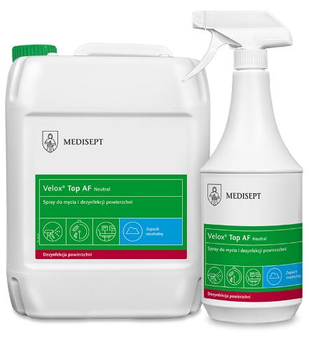 MEDISEPT VELOX TOP AF <br /> spray do mycia i dezynfekcji powierzchni