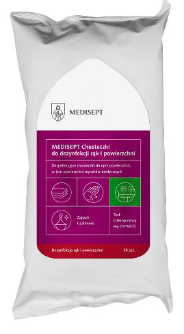 MEDISEPT<br /> chusteczki do dezynfekcji powierzchni i rąk