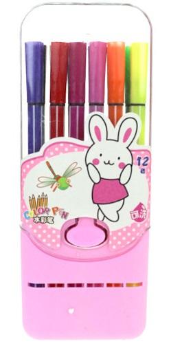 Flamastry kolorowe<br /> w pudełku 12 szt.