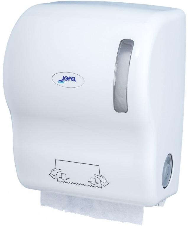 Podajnik automatyczny <br /> na ręczniki papierowe w roli <br /> (tworzywo ABS) <br /> WHITE AUTOCUT