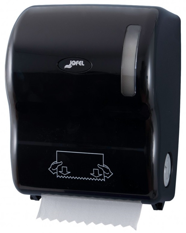 Podajnik automatyczny <br /> na ręczniki papierowe w roli <br /> (tworzywo ABS) <br /> CZARNY AUTOCUT