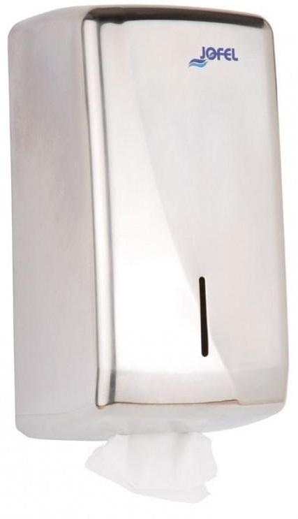 Podajnik na papier <br /> toaletowy w listkach <br /> (stal nierdzewna matowa) <br /> FUTURA MINI